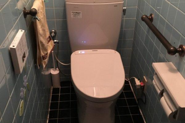 古いトイレを節水型トイレに入れ替え